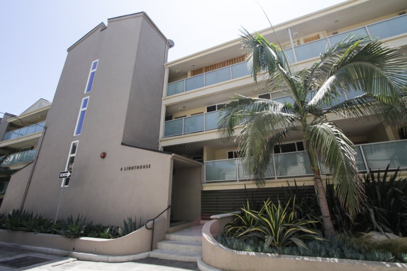 The entrance into 4 Lighthouse in Marina Del Rey