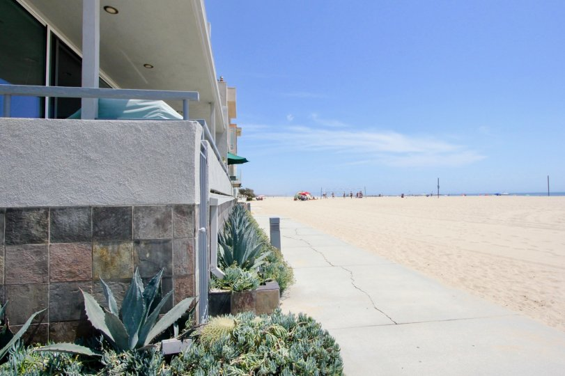 A View of the Beach from 6 Fleet on a Sunny Day in Marina Del Rey