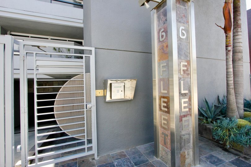 Modern security system of 6 Fleet, Marina Del Rey, California