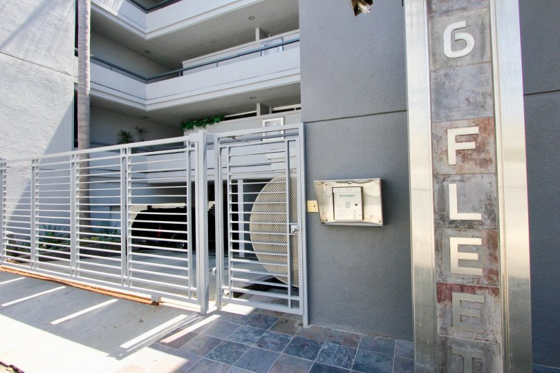 Front gate of 6 Fleet in Marina Del Rey, California