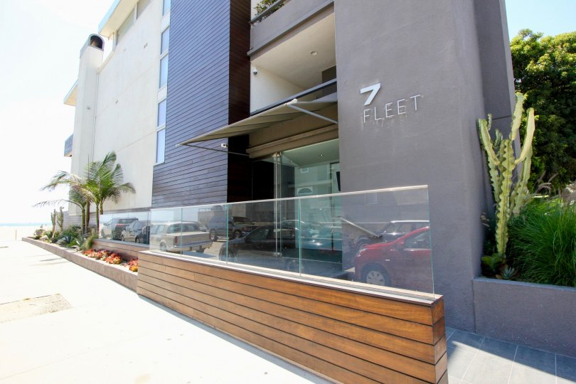 The brown and classy finish of 7 Fleet building in marina del rey, California