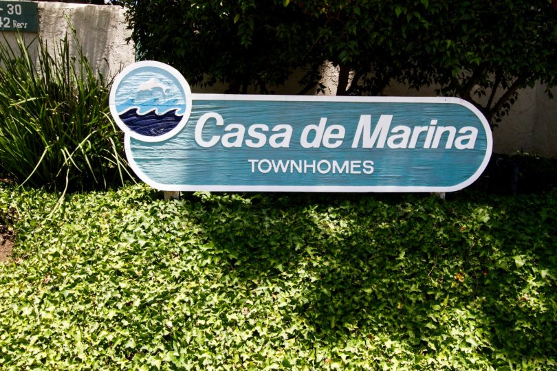 The sign announcing the Casa de Marina in Marina Del Rey
