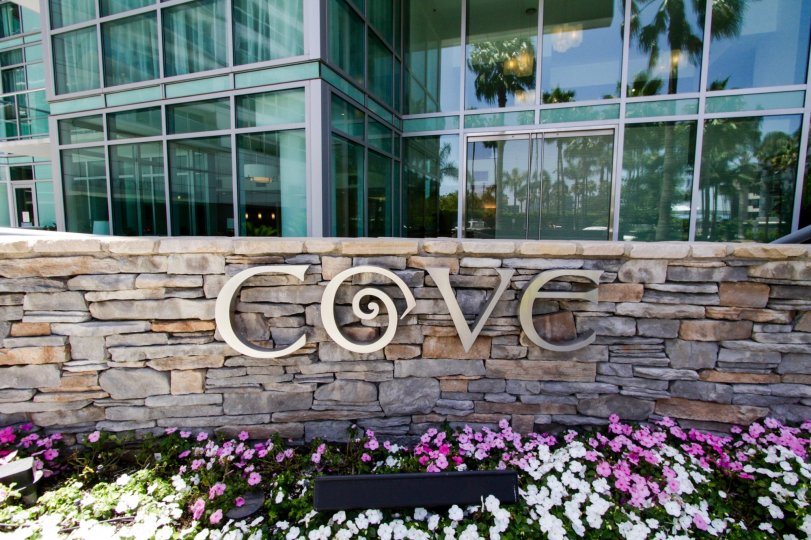 The sign announcing the Cove at Marina Del Rey
