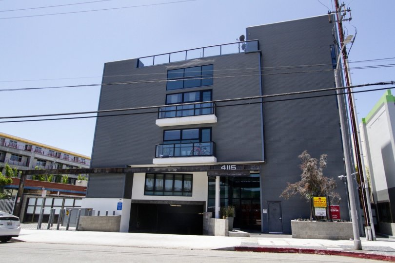 The Del Rey Lofts building at the Marina Del Rey