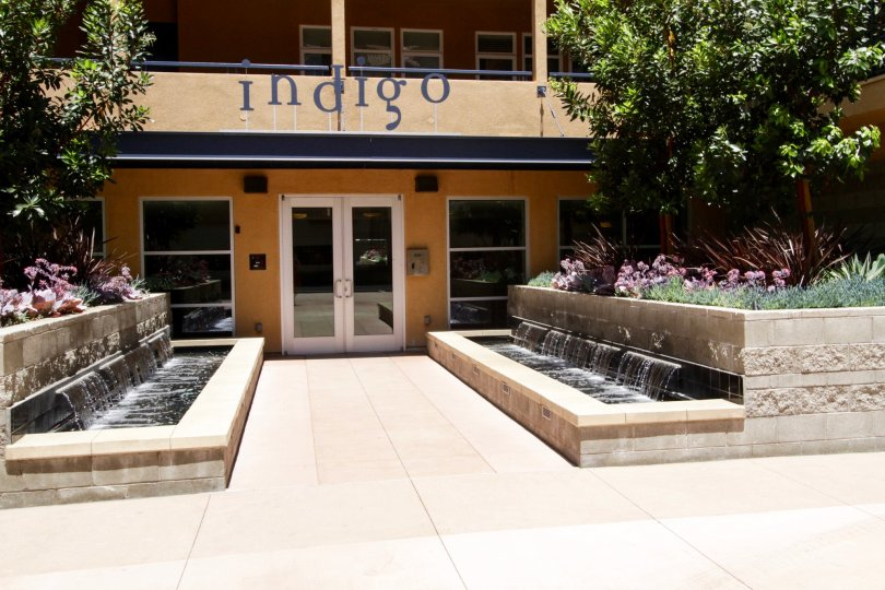 The entrance into the Indigo in Marina Del Rey