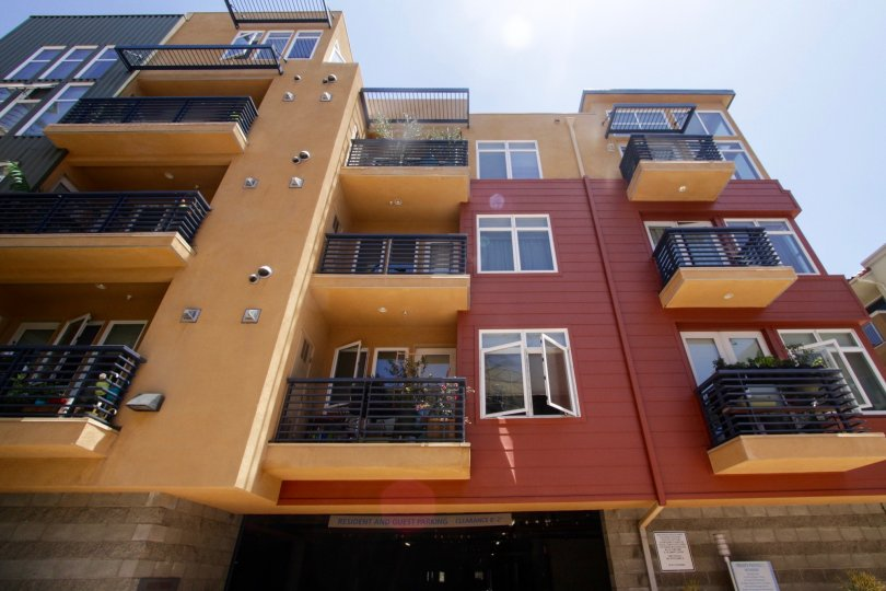 The balconies located at the Indigo in Marina Del Rey