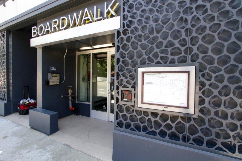 The entrance into Latitude 33 Boardwalk Collection