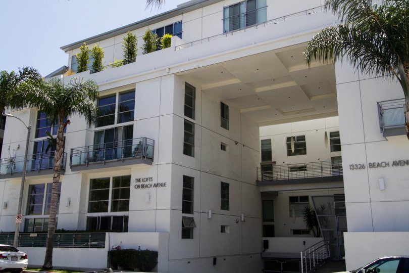 The balconies at Lofts On Beach Avenue in Marina Del Rey