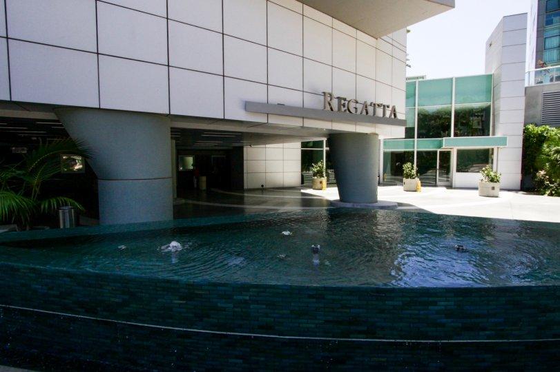 The fountain at Regatta Seaside in Marina Del Rey