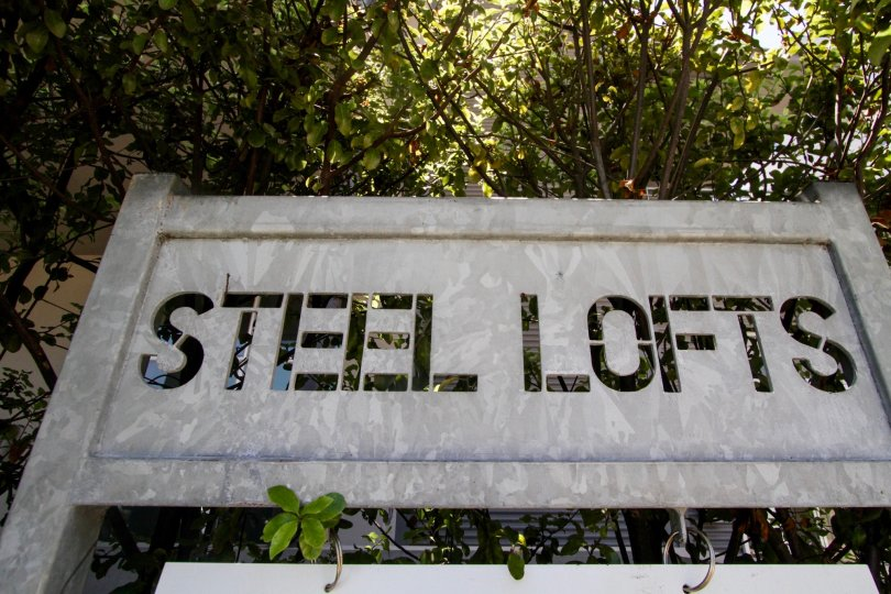 The sign leading into Steel Lofts in Marina Del Rey