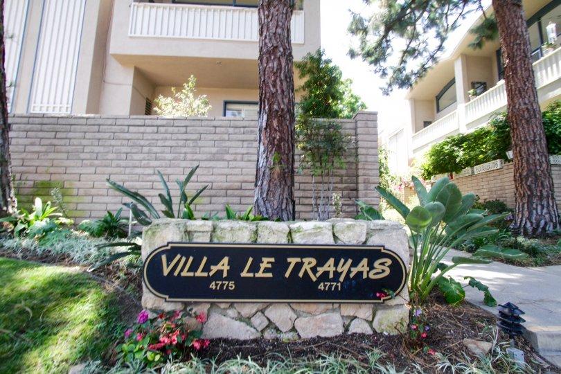The entry into the Villa Le Trayas