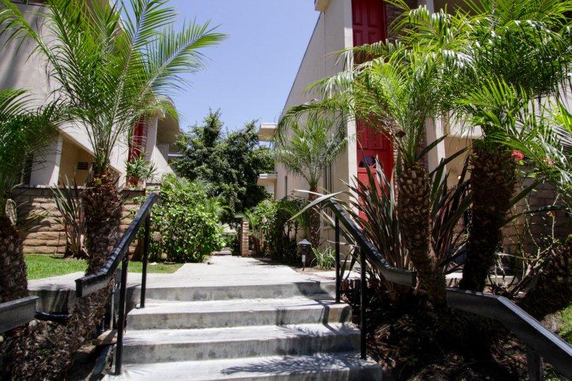 The entryway into Villa Portofino in Marina Del Rey