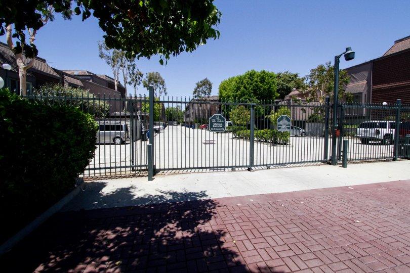 The gated entrance into Villa Vallarta