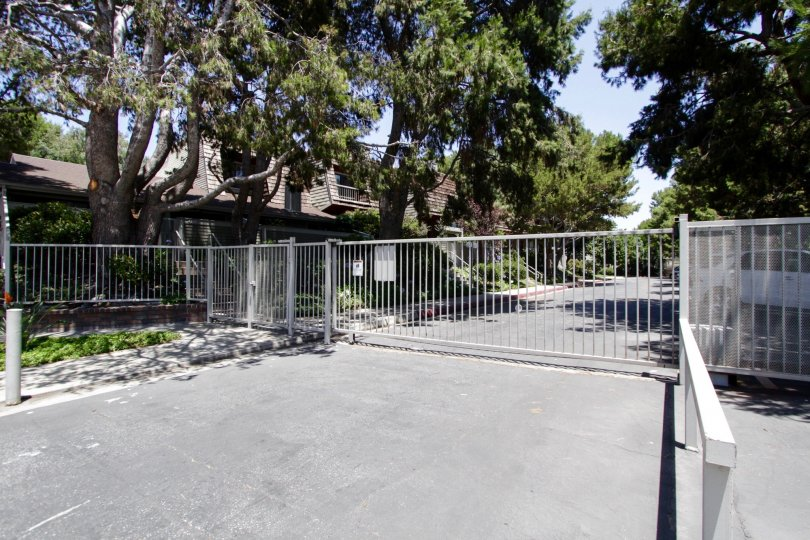 The gate into Villa Velletri in Marina Del Rey