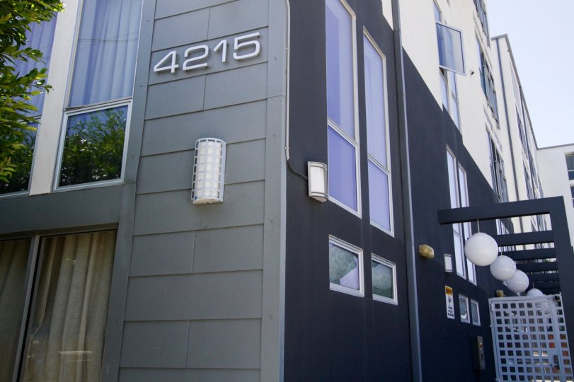 The address numbers on the building at West End in Marina Del Rey