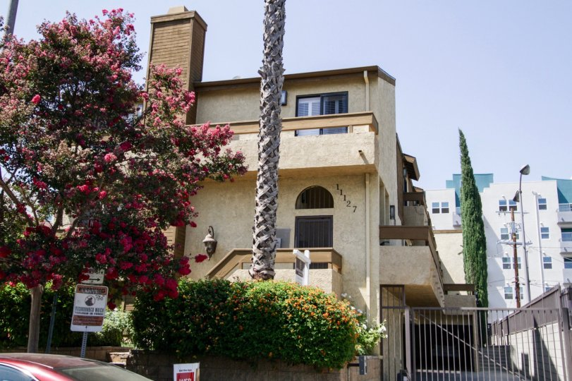 The building at 11127 Hesby St in North Hollywood
