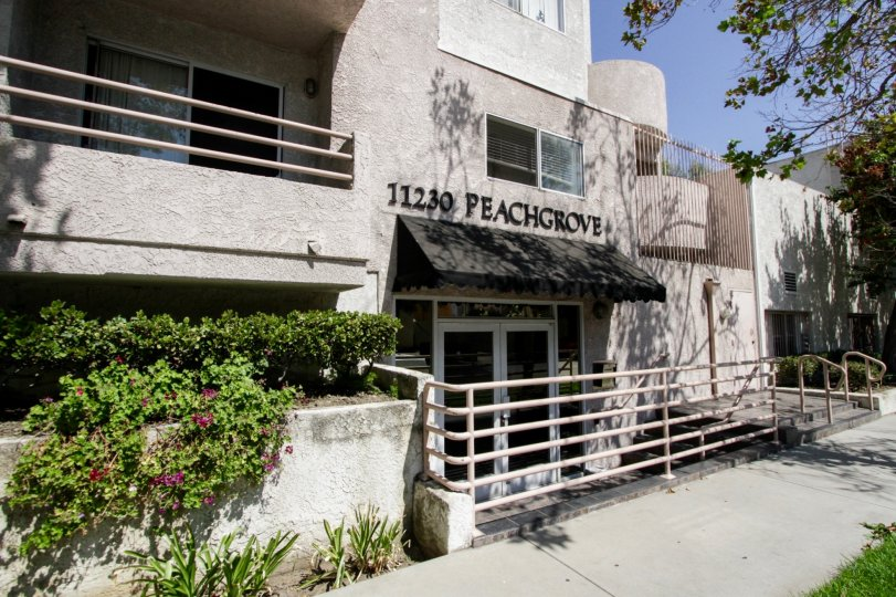 The entrance into 11230 Peach Grove St in North Hollywood