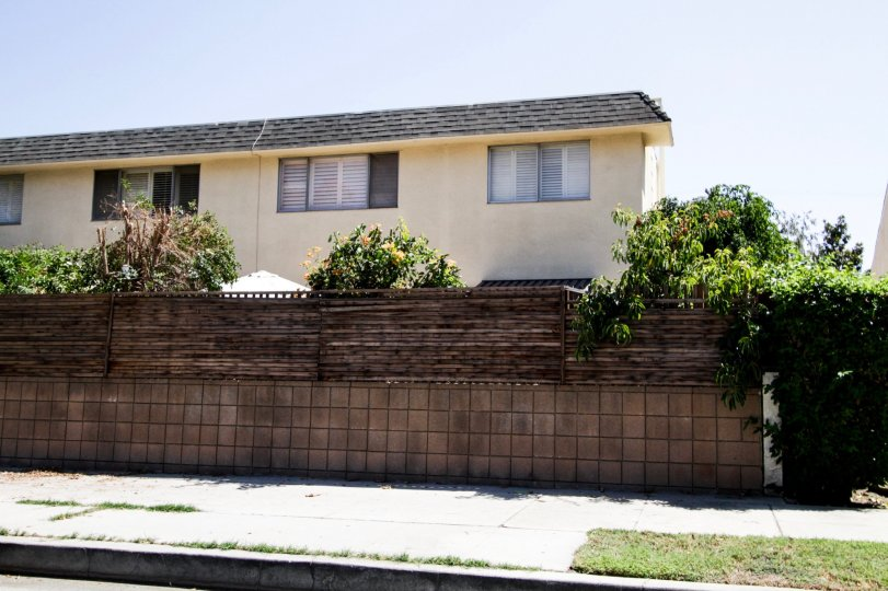The fence surrounding 4881 Cleon Ave for privacy