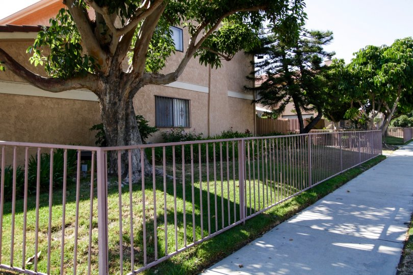 The frence surrounding the property at 6525 Cleon Ave in North Hollywood