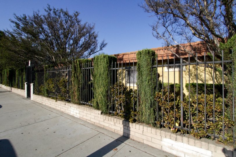 The fence line at Laurel Canyon in North Hollywood