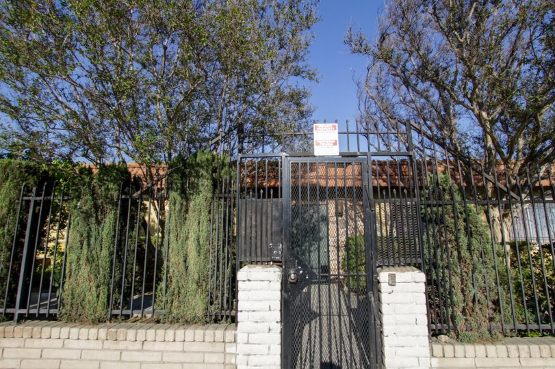 The gated entrance into Laurel Canyon