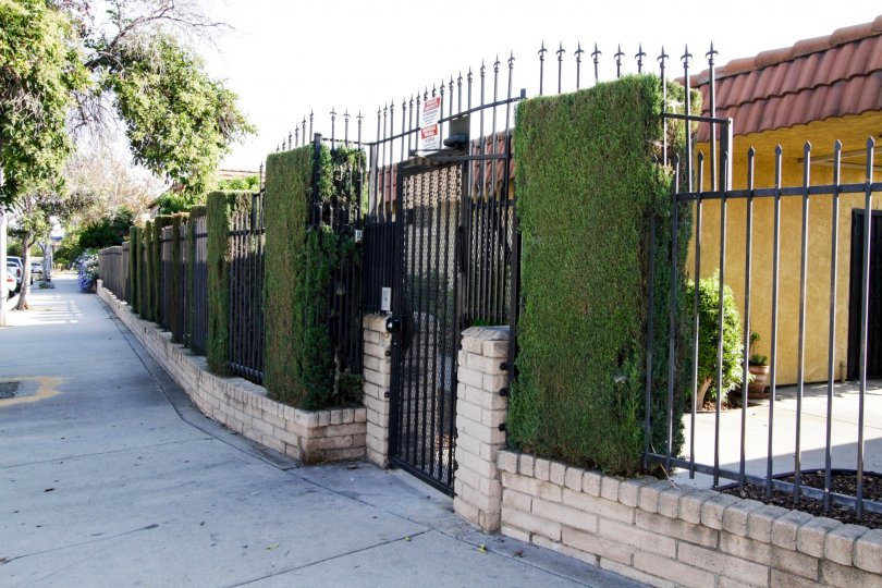 The privacy gate for Laurel Canyon