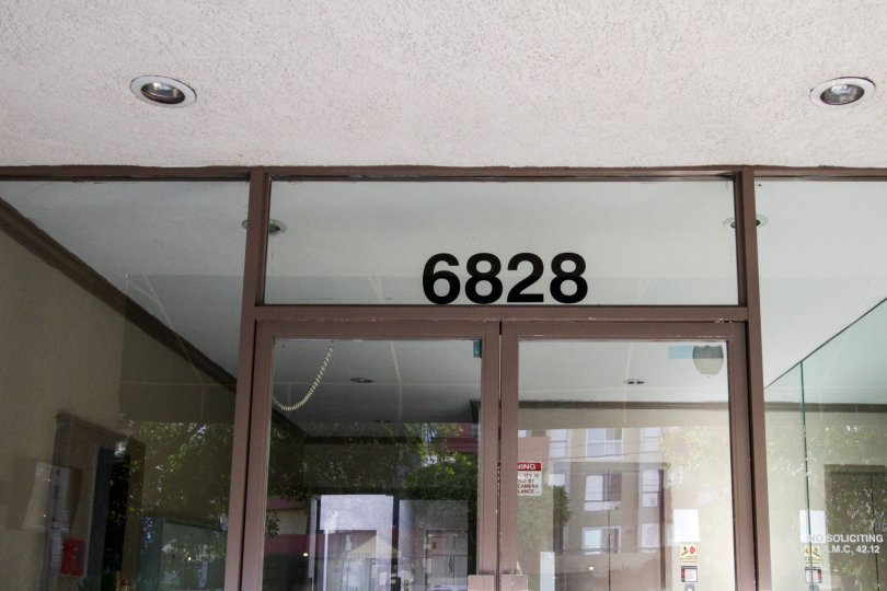 The numbers above the entrance door at Laurel Luxury Condominiums