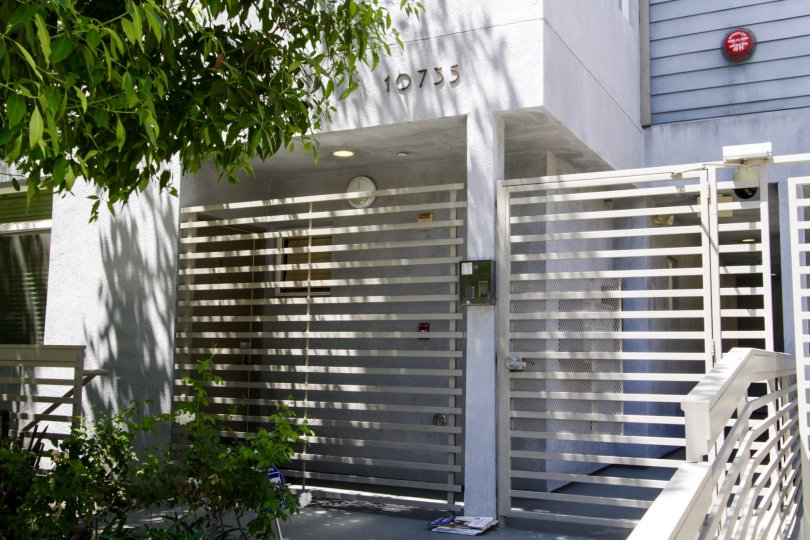 The secured gates to access Lofts at Toluca Lake