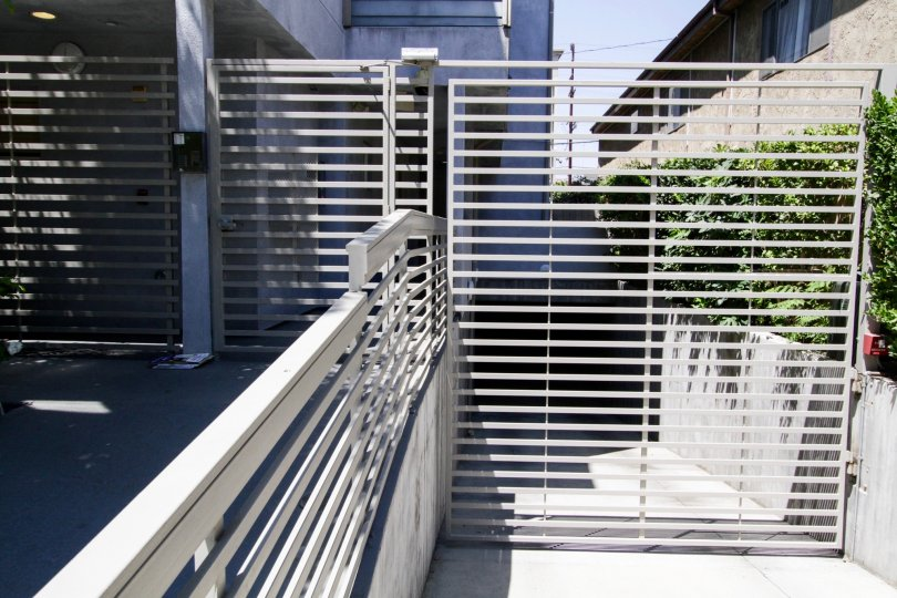 Gates that provide security at Lofts at Toluca Lake in North Hollywood