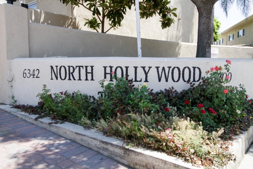 The sign upon entering into the North Hollywood Terrace
