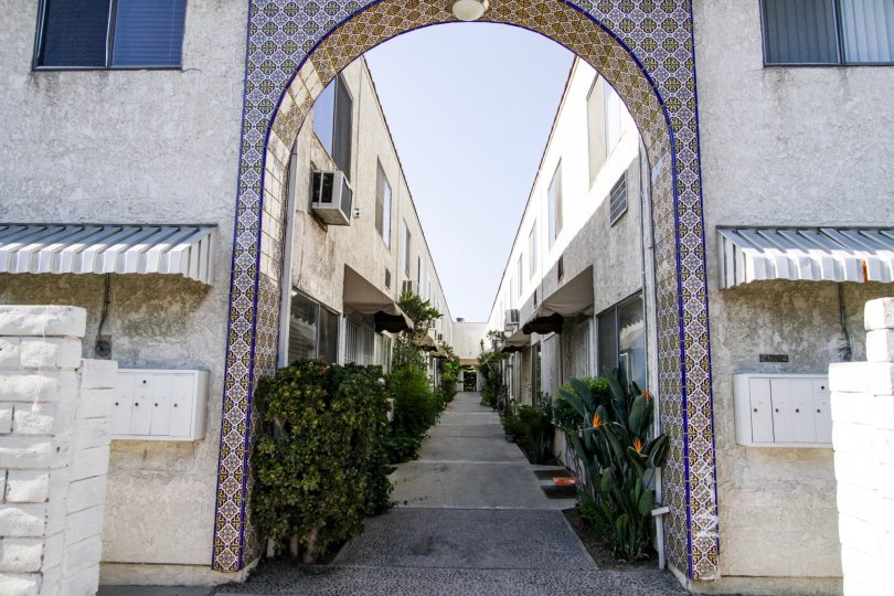 The arch at the Villa Casitas in North Hollywood