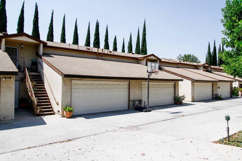The garage parking for 17241 Roscoe Blvd