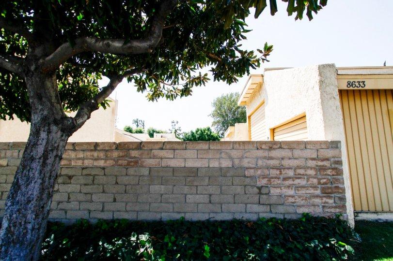 The stone wall around Balboa Parenthenia in Northridge CA