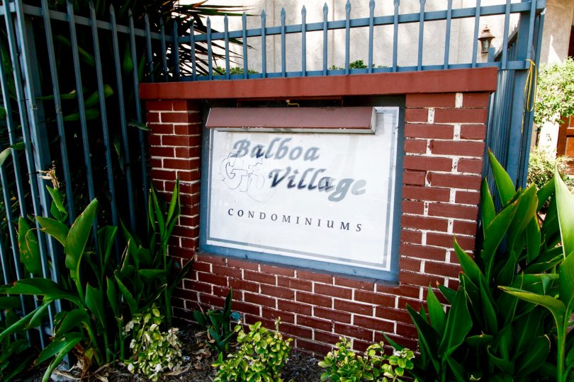 The sign for Balboa Village