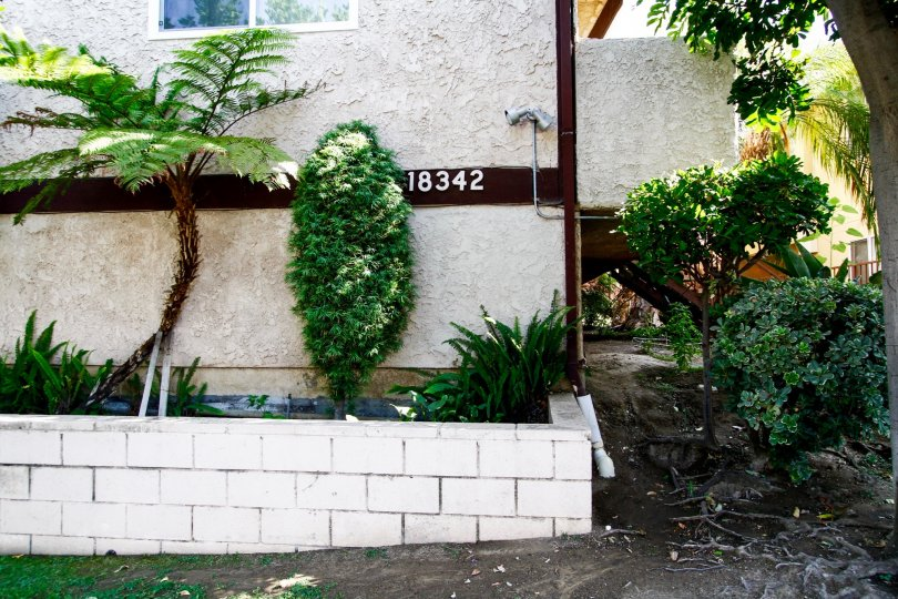 The address for Barbara Townhomes written on the building