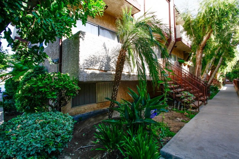 The landscaping around Barbara Townhomes