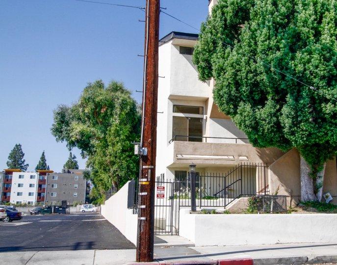 The sidewalk around College Court Townhomes in Northridge CA