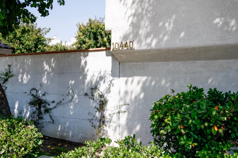 The address on the Granada Gardens building in Northridge CA