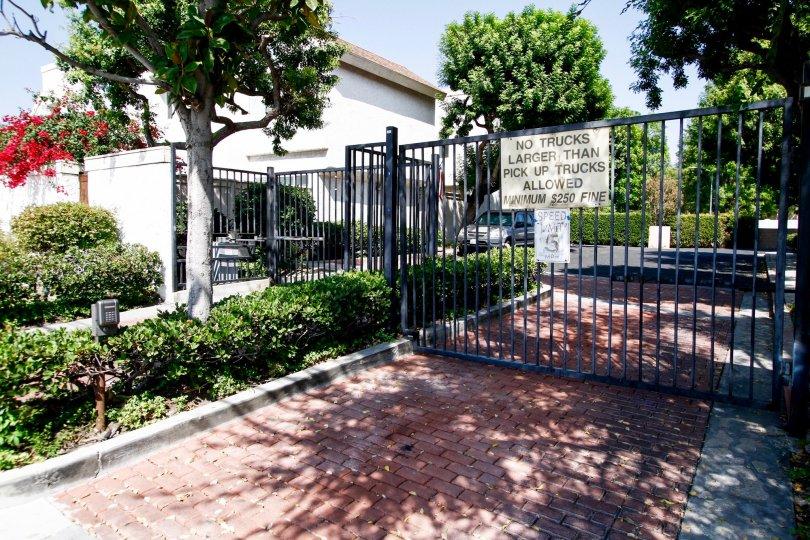 The parking for Granada Gardens