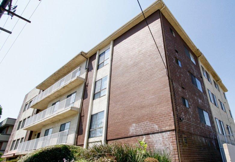 The balconies at Nordhoff Terrace in Northridge CA