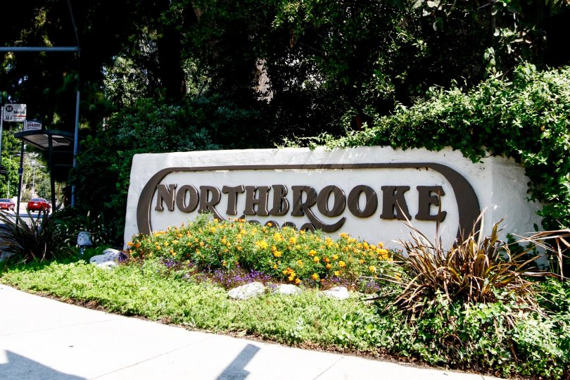The sign welcoming you into Northbrooke