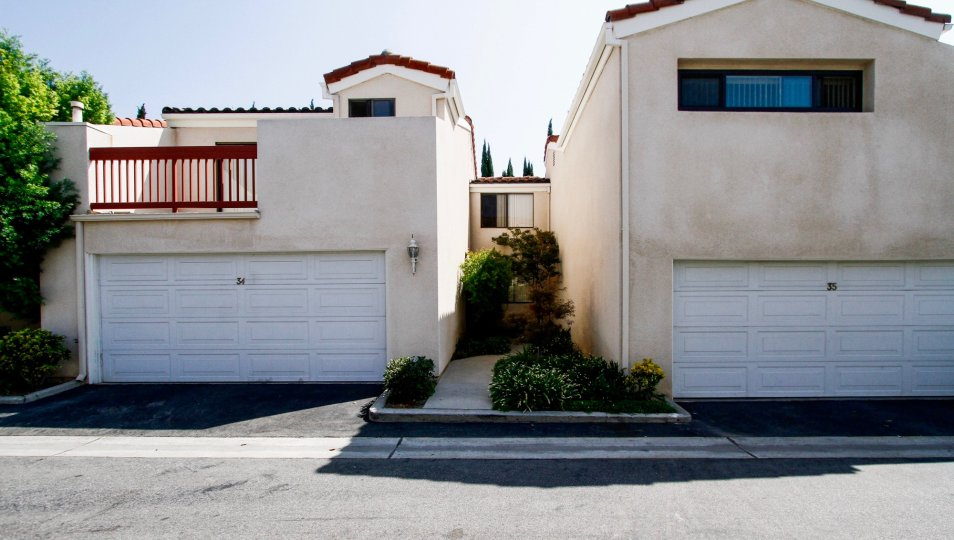 The parking for Parkside Townhomes in Northridge CA