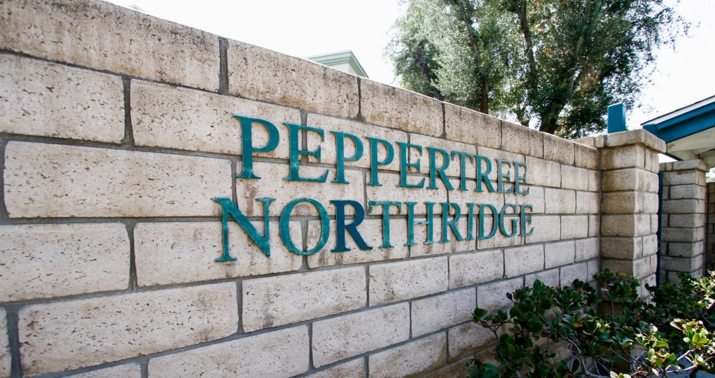 The name seen upon entering Peppertree Northridge