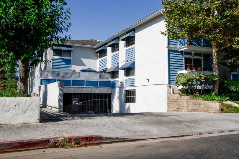 The parking for Stratford Condominiums in Northridge CA