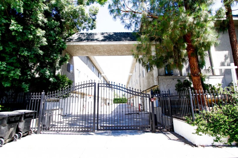 The gate for entrance into 9034 Willis Ave