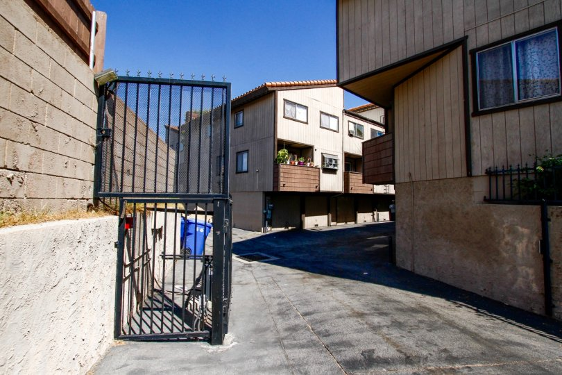 The entrance into the Sycamore Creek complex in Panorama City California