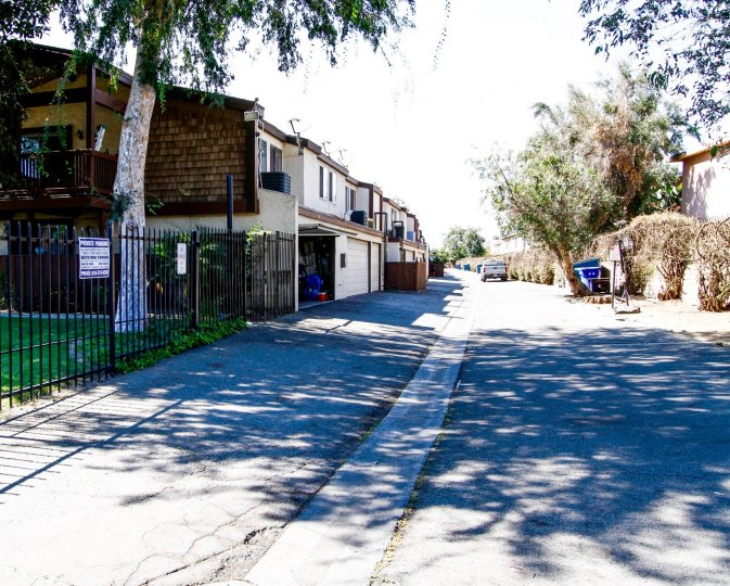 The street through Wakefield Park in Panorama City California