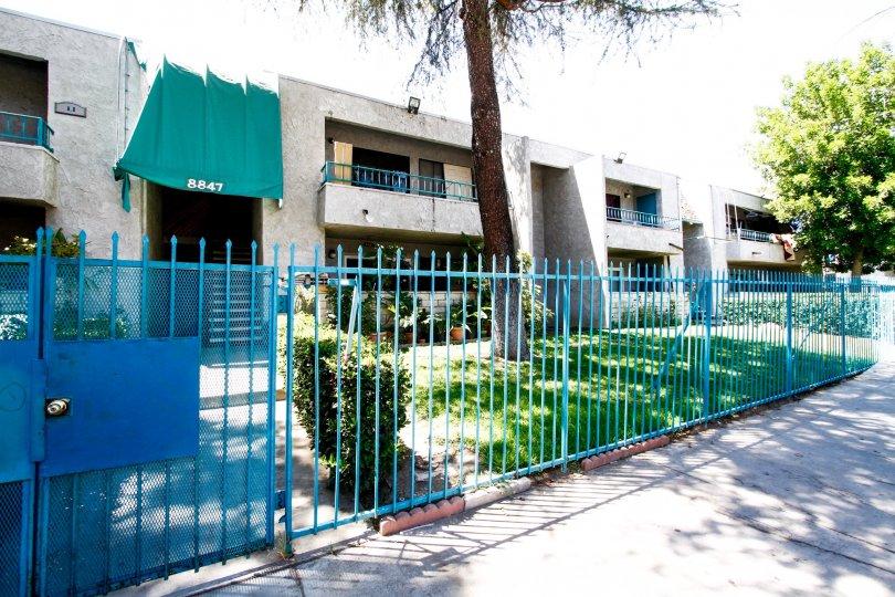 The fence around Willis Villas II in Panorama City California