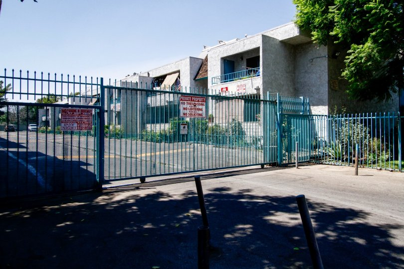 The gate for parking at the Willis Villas II
