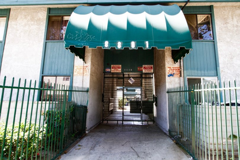 The entrance into Willis Villas in Panorama City California